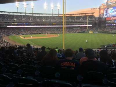 Comerica Park, section: 109, row: 47, seat: 14