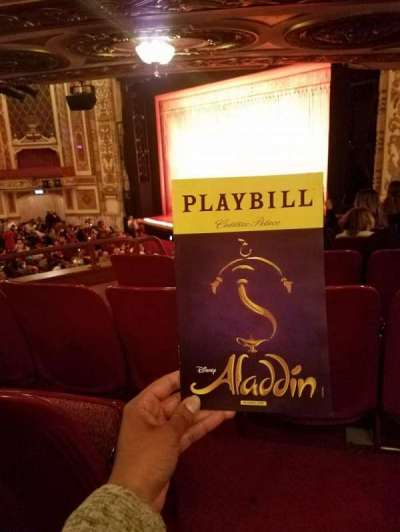 Cadillac Palace Theater, section: Dress Circle FR, row: HH, seat: 14