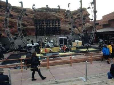 Red Rocks Amphitheatre, row: 5, seat: 55