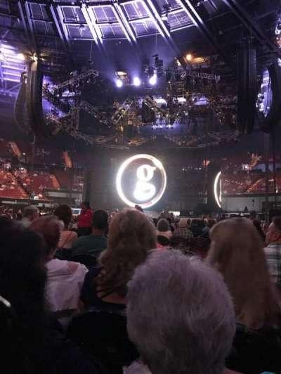 The Forum, section: Floor, row: J, seat: 6