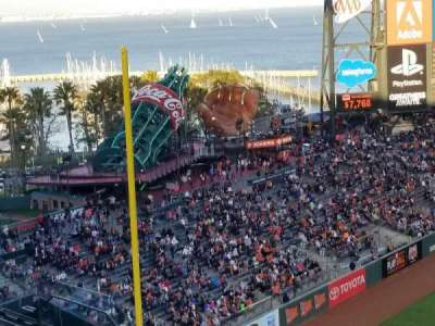 AT&T Park, section: VR327, row: 20