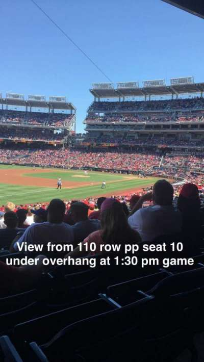 Nationals Park, section: 110, row: PP, seat: 10