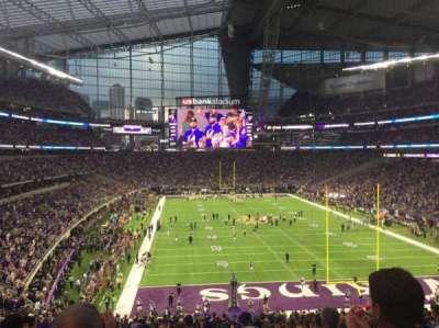 U.S. Bank Stadium, section: 121, row: 40, seat: 13