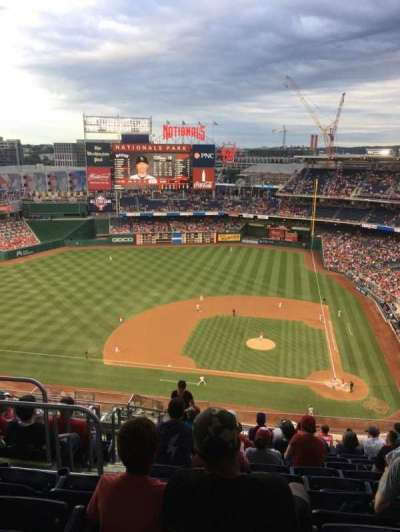 Nationals Park, section: 409, row: M, seat: 26