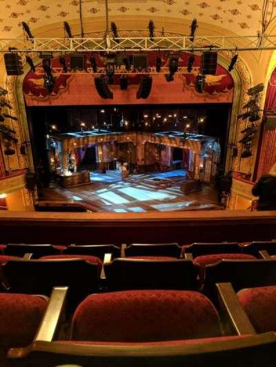 Bernard B. Jacobs Theatre, section: Mezzanine, row: H, seat: 104