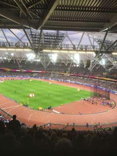 London Stadium, section: 216, row: 68, seat: 75