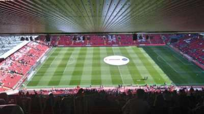 Anfield, section: Upper Main Stand, row: 93, seat: 109