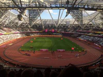 London Stadium, section: Block 250, row: 64, seat: 009