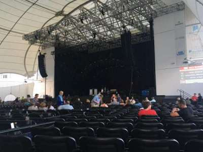 Blue Hills Bank Pavilion, section: 1, row: FF, seat: 12