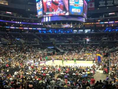 Staples Center, section: 206, row: 1, seat: 5