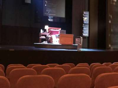 Music Box Theatre, section: Center orchestra, row: G, seat: 112