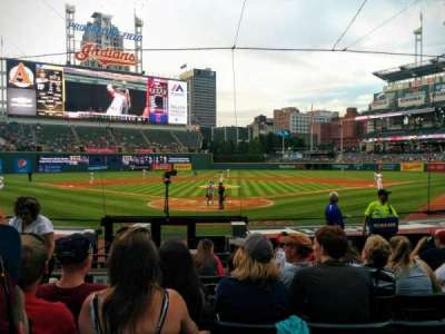 Progressive Field, section: 153, row: P, seat: 5