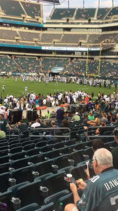 Lincoln Financial Field, section: 138, row: 18, seat: 12