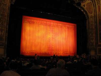 Cadillac Palace Theater section Orchestra L