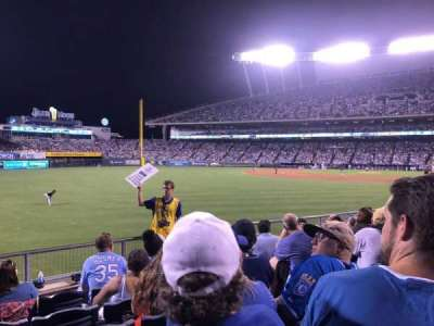 Kauffman Stadium, section: 108, row: P, seat: 15
