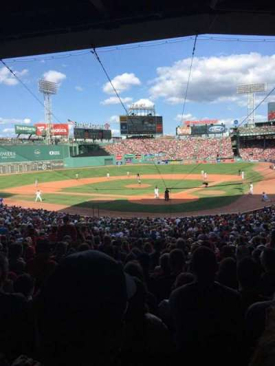 Fenway Park, section: 22, row: 7, seat: 5