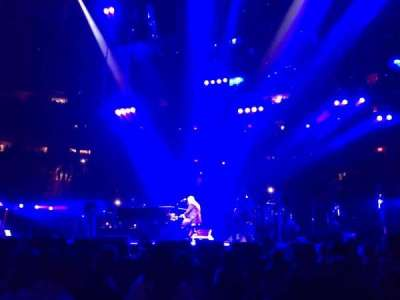 Madison Square Garden, section: Floor, row: 6, seat: 1