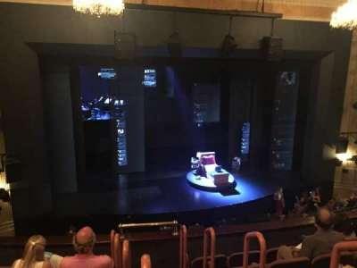 Music Box Theatre, section: Left Mezz, row: F, seat: 1