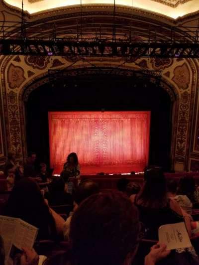 Cadillac Palace Theater, section: Balcony, row: J