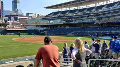 Target Field, section: 16, row: 6, seat: 5