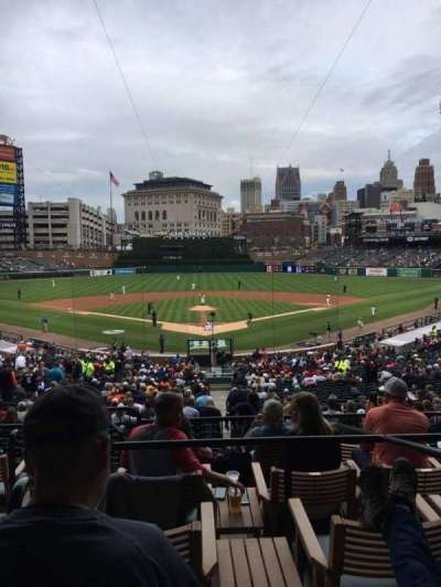 Comerica Park, section: 128a, row: E, seat: 2
