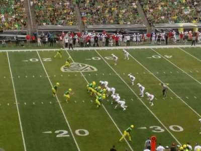 Autzen Stadium section 16