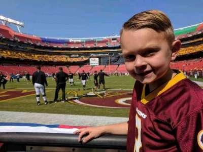 FedEx Field, section: 30, row: 1, seat: 12