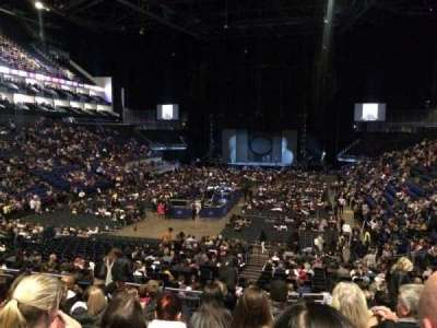 The O2 Arena, section: 108, row: W, seat: 227