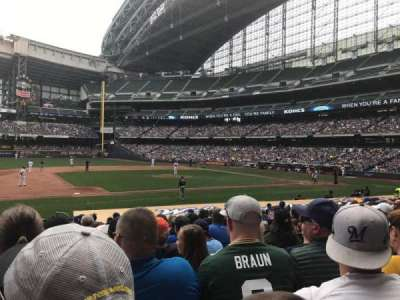 Miller Park, section: 123, row: 17, seat: 8