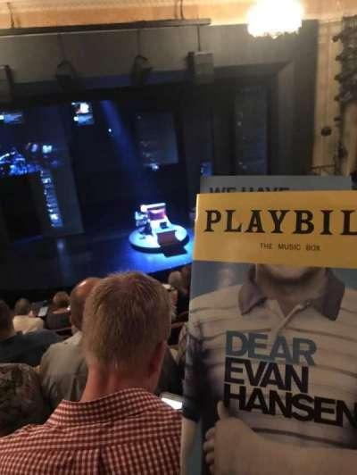 Music Box Theatre, section: Mezz, row: G, seat: 110