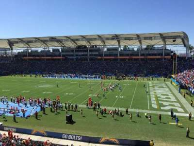StubHub Center, section: 288, row: AA, seat: 15