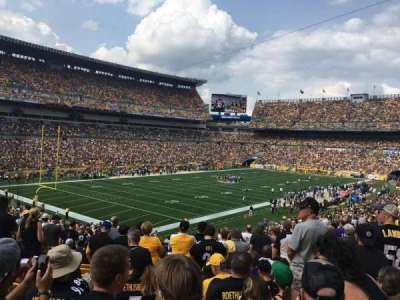 Heinz Field, section: 104, row: LL, seat: 9-12