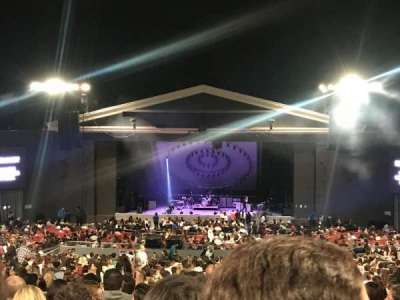 The Greek Theatre, section: C, row: L, seat: 116
