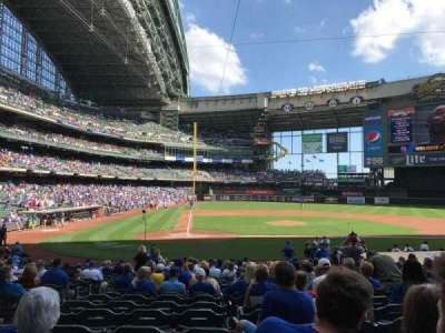 Miller Park, section: 115, row: 19, seat: 3