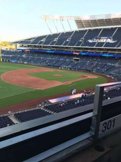 Kauffman Stadium section Bench