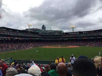Fenway Park section Bleacher 38