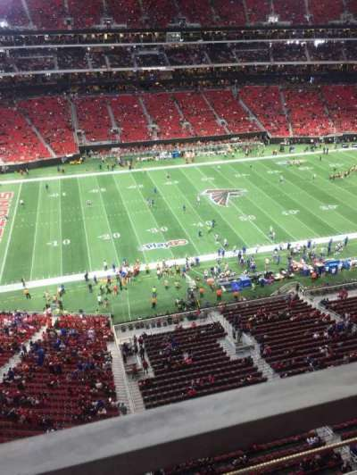 Mercedes-Benz Stadium, section: 342, row: 1, seat: 9