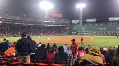 Fenway Park, section: Loge Box 104, row: AA, seat: 1