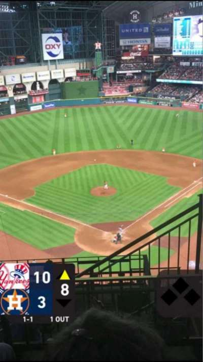 Minute Maid Park, section: 418, row: 3, seat: 19