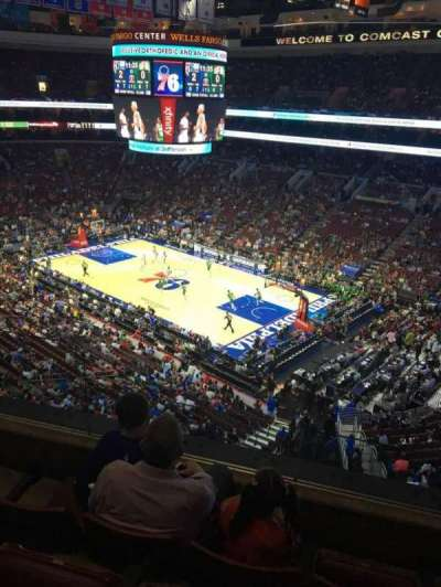 Wells Fargo Center, section: 216A, row: 4, seat: 1