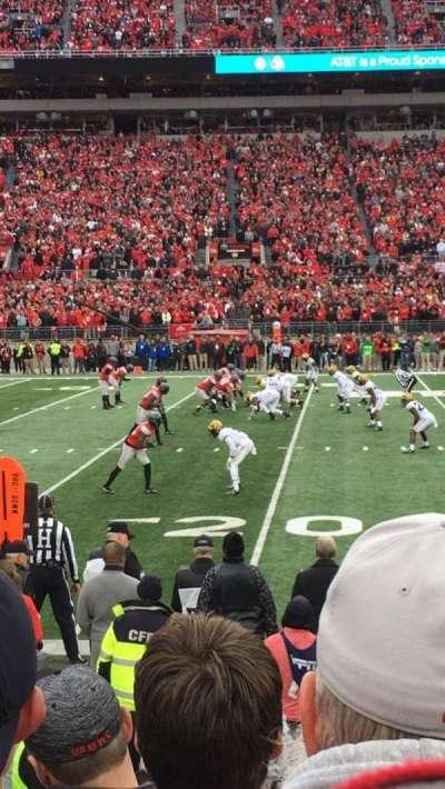 Ohio Stadium, section: 24aa, row: 5, seat: 21