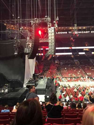 Wells Fargo Center, section: 123, row: 18, seat: 10
