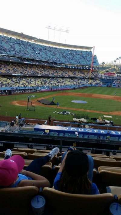 Dodger Stadium, section: 123LG, row: F, seat: 4