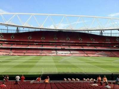 Emirates Stadium, section: 1, row: 22, seat: 25