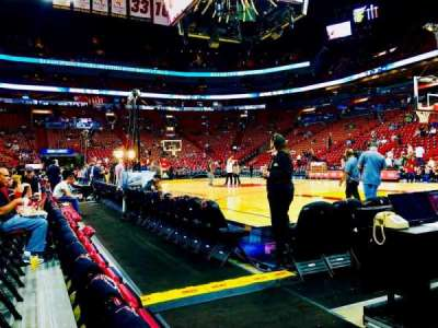 American Airlines Arena, section: 117, row: 2, seat: 1