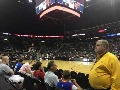 Sprint Center, section: 115, row: 1, seat: 9
