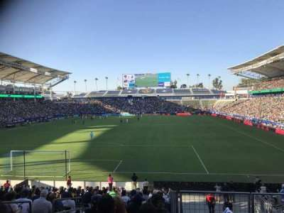 StubHub Center, section: 141, row: W, seat: 20