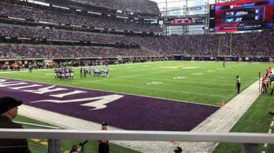 U.S. Bank Stadium, section: 116, row: 6, seat: 10