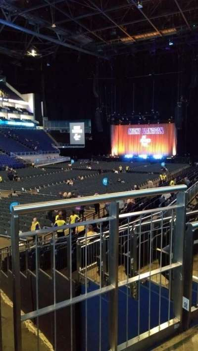 The O2 Arena, section: 109, row: P, seat: 263