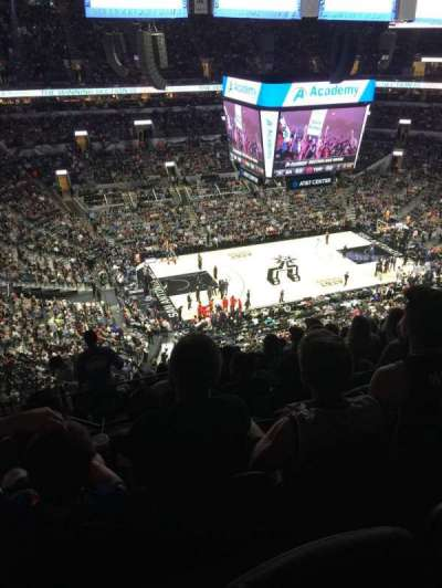 AT&T Center, section: 210, row: 12, seat: 20